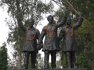 Sukhdev Thapar - Statues of Bhagat Singh, Rajguru and Sukhdev