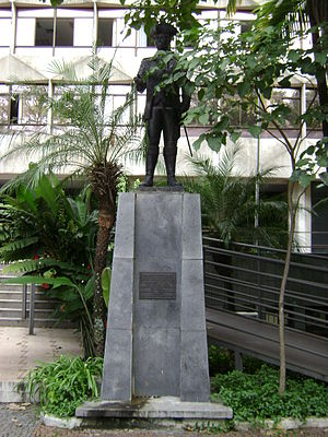 Tiradentes - Statue of Tiradentes, patron of the military police in Minas Gerais.