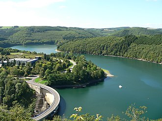 Lac de la Haute-Sûre - The Upper Sûre Lake, after which the commune is named