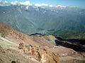 Stepantsminda from MKinvartsveri (Kazbek) slope..jpg