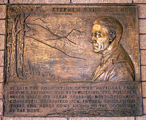 Mather Plaque in Zion National Park