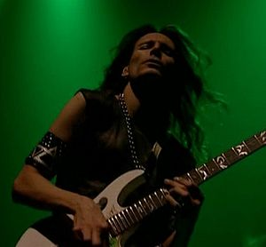 English: Steve Vai in London in 2001