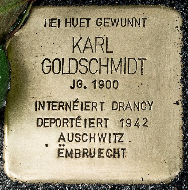 Stolperstee Karl Goldschmidt, 17 rue de la Grève nationale, Déifferdeng-102.jpg