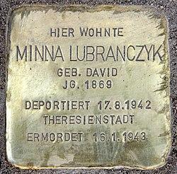 Photo of Minna Lubranczyk brass plaque