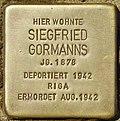 Stolperstein für Siegfried Gormanns (Potsdam).jpg