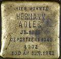 Stolpersteine Köln Hermann Adler Brüsseler Str 4.jpg