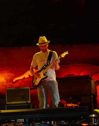 Stone Gossard - Stone Gossard on stage with Pearl Jam in Madrid, Spain on June 9, 2007
