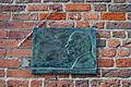 Stralsund, Rathaus, Gedenktafel Gottfried Kiesow (2012-04-06), by Klugschnacker in Wikipedia.jpg