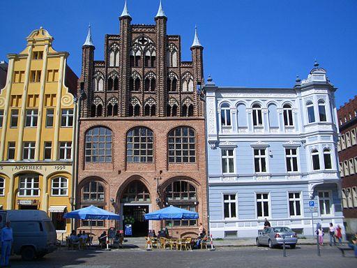 Wulflamhaus am Alten Markt in Stralsund.