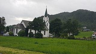 Strandebarm Church Church in Hordaland, Norway
