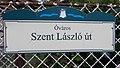 Street sign, Szent László Road, 2020 Százhalombatta.jpg
