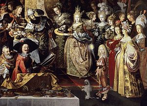 Feast of Herod with the Beheading of St John the Baptist - Herod and the group of ladies