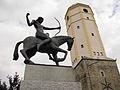 Strzelin, wieża ratuszowa (z terenem d. ratusza), 1520.JPG