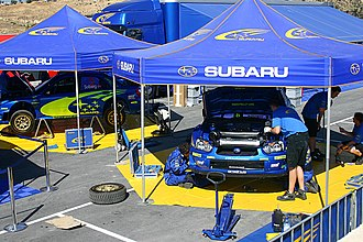 Cyprus Rally - Subaru World Rally Team at the 2005 event