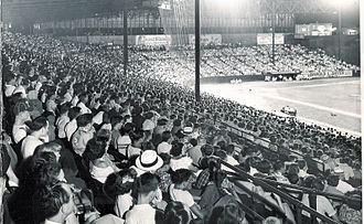 Sulphur Dell - A baseball game at Sulphur Dell in the 1950s