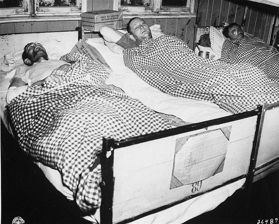 Survivors of Flossenburg suffering from typhus