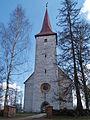 Suure-Jaani kirikuaia piirdemüür ja kirik.JPG