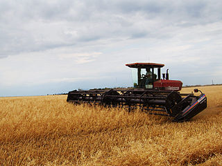 Swather harvesting machine