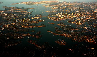 Geography of Sydney - The Sydney region includes coastal features of cliffs, beaches, estuaries and deep river valleys known as rias.