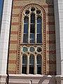 Synagogue window, Szent Istvan Square, 2016 Szekszard.jpg