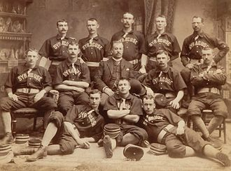 Jack Chapman - Syracuse Stars, 1889. Chapman, the team's manager, is in the center, without a uniform