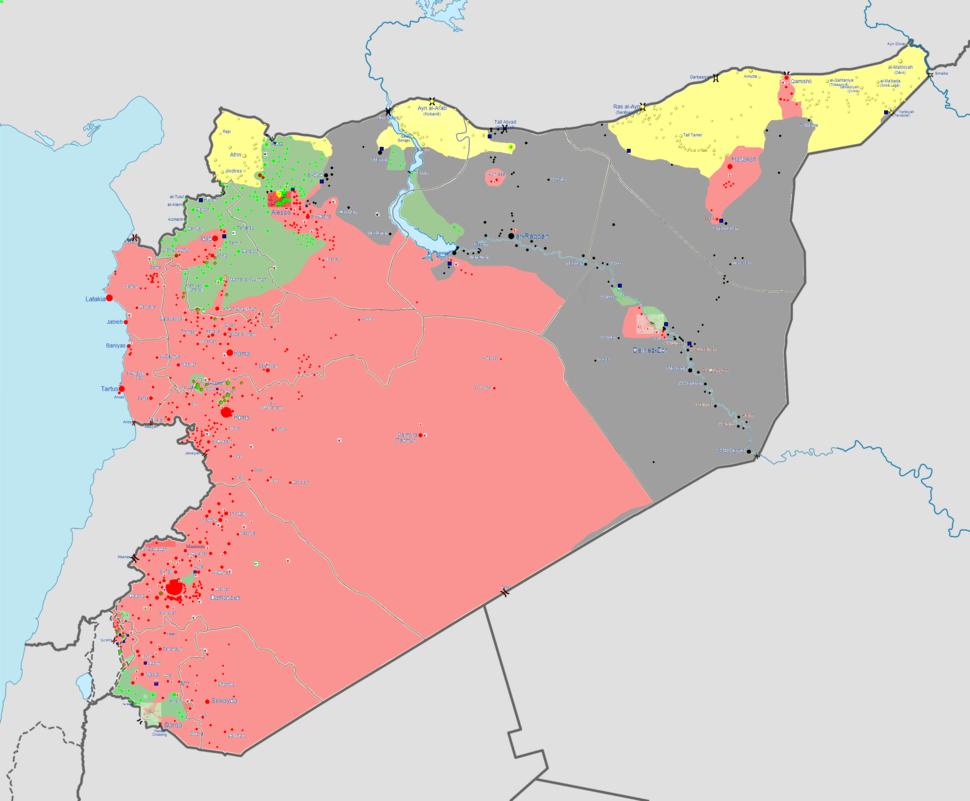 Syrian war map 11 7 14