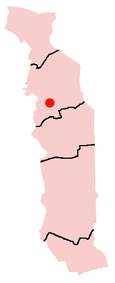 Location of Bassar in Togo