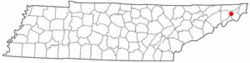Location of Central, Tennessee