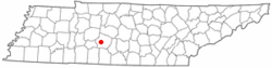 Location of Mount Pleasant, Tennessee