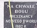 Tabliczka Figurki Maryjnej - Nowy Dwór Królewski.JPG