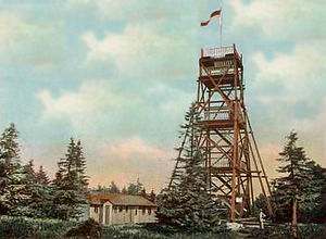 Smrk (Jizera Mountains) - Observation tower, about 1900