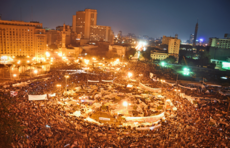 Egyptian protesters demonstrating in Tahrir Square, Cairo on February 8, 2011. Image: Jonathan Rashad.