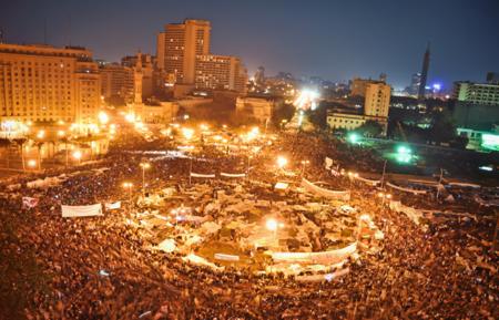 ميدان التحرير وقت الثورة