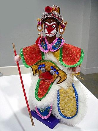 Glove puppetry - Sun Wukong puppet in pò·-tē-hì.