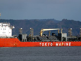 Chemical tanker - The chemical tanker Ginga Falcon on the Columbia River