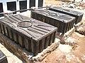 Tanks on pedastals against floating (6729960903).jpg