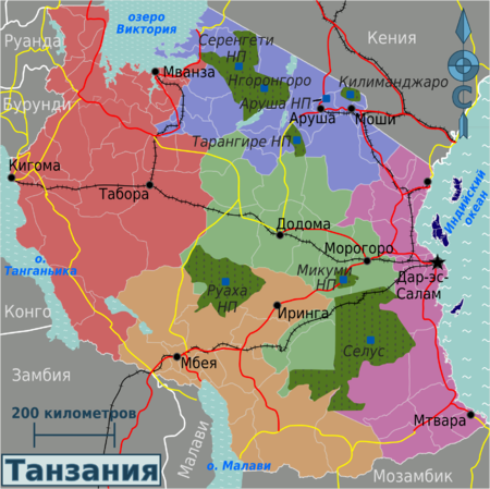 Tanzania regions map (ru).png