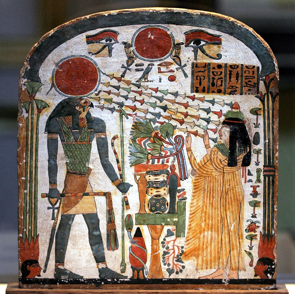 stele of the high priest phat Osiris, the priest of montu, lord of thebes, opener of the doors of nut in karnak, ankh-f-na-khonsu, the justified.