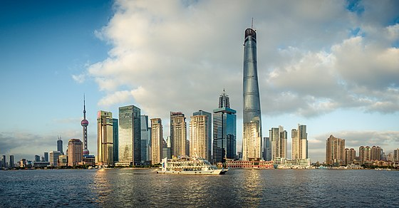 Lujiazui Finance and Trade Zone Tarde en Shanghai -- at The Bund Wai Tan . (15730639211).jpg