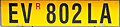 Targa automobilistica Italia 1999 EV 802 LA rimorchio posteriore.jpg