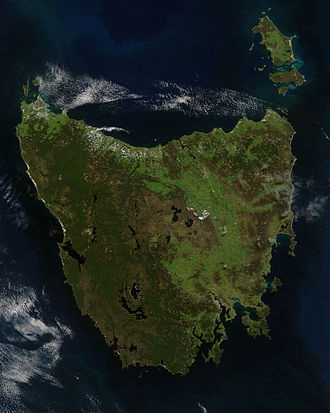 Tasmania - Tasmania from space