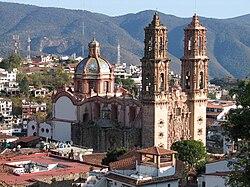 Церковь св. Присциллы в Таско-де-Аларконе — пример колониального ультрабарокко