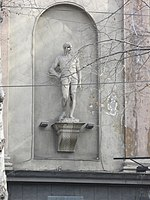 Tbilisi, Rustaveli cinema statue 2.JPG