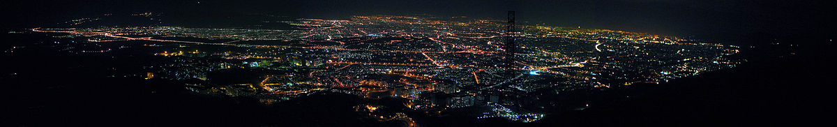 Panoramic view from Tehran at night.