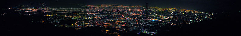 Panoramic view from Tehran at night