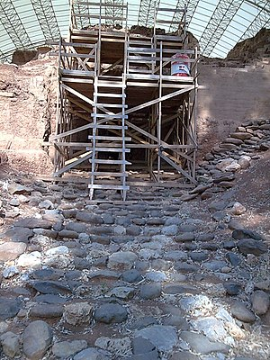 Dan (ancient city) - Tel Dan - Excavation and reconstruction of the Eastern Bronze Age gate