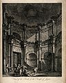 Temple of Jupiter, Spalato (Split); interior. Engraving by D Wellcome V0014510.jpg