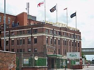 Tetley's Brewery - Tetley's Brewery 1931 art deco headquarters in 2010.