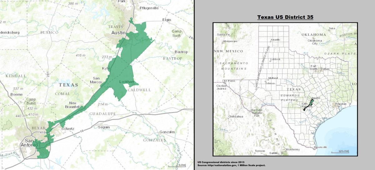 Texas's 35th congressional district - Wikipedia on austin texas time zone map, austin texas watershed map, austin metro area map, austin texas area code map, austin city map, county for travis county texas map, austin texas division map, texas state congressional districts map, austin texas town map, harris county texas area map, texas representatives district map, austin texas zip map, austin texas climate map, austin texas gerrymandering, austin gerrymandering map, williamson county texas map, austin texas county map, austin texas voting districts, austin texas state map, austin texas airport map,