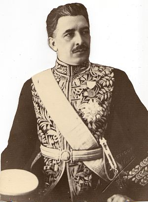 Ali Ehsassi - Ali Ehsassi's great-grandfather, politician Abdolhossein Teymourtash in Official Court Uniform, (In office 1925 – 1933)